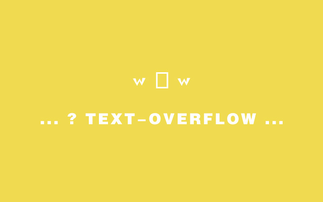 text-overflow