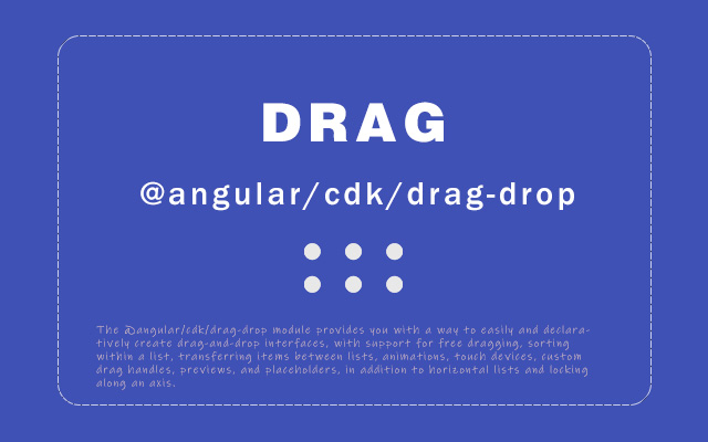 angular cdk drag-drop