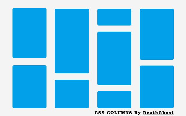 CSS columns多列布局 实现瀑布流布局效果