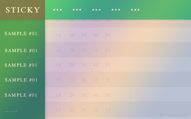 CSS粘性定位固定表格thead部分元素小方法