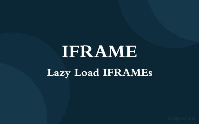 延迟加载IFRAME