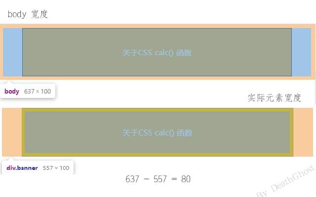 CSS calc() 函数应用示例