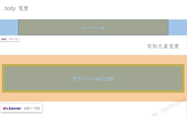 CSS max()函数示例